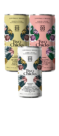 TWO CHICKS SPARKLING COCKTAILS
